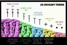 Crochet 101 / Learning how to crochet, read patterns, and create new fancy stitches. / by Carmen Eller