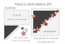 card sketches by tami sanders * paper crafter / card sketches designed by tami sanders * paper crafter for the Clearsnap Blog... http://blog.clearsnap.com www.tamisanders.com