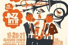 Mid Century Jazz Graphic Design / Mid Century Modern Graphic Design with a Jazz music vibe