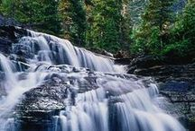 Waterfall, stream