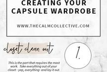 Capsule Wardrobe Style / How to create a capsule wardrobe for any season. Capsule wardrobes are great for saving money, keeping your closet organized and decluttered, and maintaining a classic but still versatile style.