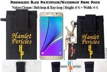 Hamlet's Fashion: Phone Pouches / Displaying custom-made smartphone pouches for clients; designer phone pouches, fashion phone pouches; these pouches can also be used for iPods, etc. If you want a personalized phone pouch, contact me via e-mail: h.p_pericles@yahoo.com