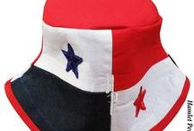 Hamlet Pericles: Country-flag Hats / This board features a collection of country-flag buckets hats, designed and sewn by me. (State-flags will also be featured.) They are available for purchase via my Etsy online store: www.hamletpericles.etsy.com