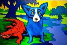 Rodrigue's Blue Dog / by Hayley Karrigan