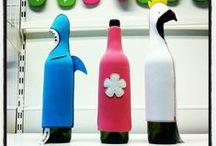 Wine Bottle Covers / Cubre botellas de vino originales y divertidos.