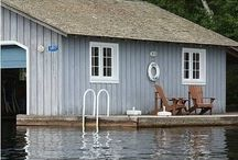 ★ COTTAGE BY THE LAKE / Boat house | Lake house | Cottage | Interior  / by Helen ★