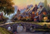 Thomas Kinkade...Love his work / by Robyn Osika