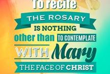 ROSARY / Pray for us, O holy Mother of God.  That we may be made worthy of the promises of Christ.