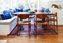 Banquette Dining / Inspiration for built-in seating around the table.