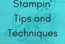 Stampin' Tips & Techniques / Hints, tips, tricks and techniques to make your paper crafting quicker, easier or just more fun !