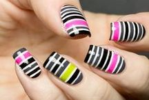 Tape Manis / Hey! You can use tape to make some pretty cool manicures!