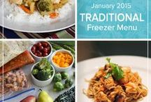 Traditional January 2015 Freezer Menu / Fill your freezer with creamy soups, crispy wings and saucy pork to keep your family feasting well into the new year with this Traditional January 2015 Menu. / by Once A Month Meals