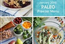 Paleo January 2015 Freezer Menu / Ring in 2015 with the comforting flavors of chicken soup, bacon topped meatloaf and unstuffed cabbage rolls highlighting our Paleo January 2015 Menu. / by Once A Month Meals