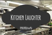 Kitchen Laughter / As I search around for interesting things related to being married to a chef, sometimes I just have to smile or laugh at what I find!