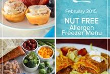 Allergen: Nut Free February 2015 Menu / Pulling together a little something for everyone this month's Allergen Menu features a selection of family friendly nut free recipes ranging from homemade burritos to slightly indulgent banana chocolate chip cookies. / by Once A Month Meals