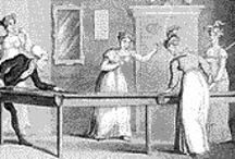 """regency...entertainments / """"Here I am once more in this scene of dissipation and vice, and I begin already to find my morals corrupted."""" Jane Austen"""