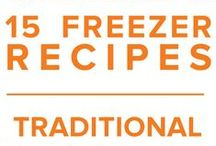 Traditional Freezer Menu November 2015 / From maple pecan pancakes to tangy cranberry turkey, our Traditional November Menu aims to get you in the holiday mood with a bit of festive freezer food. / by Once A Month Meals