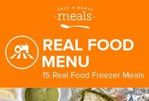 Real Food Freezer Menu January 2016 / Whether you are in need of a bit of heat or just some cold weather comforts this Real Food January Menu aims to please. From curry laced chicken zucchini fritters to nutty maple breakfast cookies these recipes are bursting with flavors to chase away the chill. / by Once A Month Meals