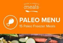 Paleo Freezer Menu January 2016 / No need to look any further than behind your freezer door for some heathful comforts this chilly season. Wintery cabbage soup, filling slow cooker vegetable stew, and tangy oven roasted chicken wings are just an arm's reach away with our Paleo January Menu. / by Once A Month Meals