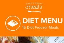 Diet Freezer Menu January 2016 / Let our January Diet Menu help you make a heathy start to the new year with a stash of calorie cognizant recipes in your freezer. Weight Watchers Friendly!! / by Once A Month Meals