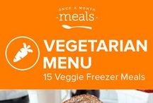 Vegetarian Freezer Menu January 2016 / Cinnamon spiced pear popovers, cheesy sweet potato nachos, and an herbaceous spicy vegetable vindaloo highlight our January Vegetarian Menu.  / by Once A Month Meals