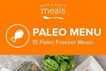 Paleo Freezer Menu February 2016 / Combat these cold days with a bevy of mouthwatering and healthy meals just waiting to grace your table. Sausage studded breakfast casserole, crispy broccoli fritters, and pecan topped pesto chicken round out this winter Paleo menu of freezer friendly meals. / by Once A Month Meals