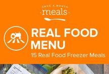 Real Food Freezer Meals Menu April 2016 / Enjoy a sampling of the fresh flavors of spring with this Real Food Menu. Maple infused carrot and cherry breakfast cookies, zippy turmeric tinged carrot and rhubarb soup, and juicy jerk spiced pineapple pork chops are just the thing to fill your freezer this season. / by Once A Month Meals