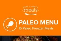 Paleo Freezer Meals Menu May 2016 / Whether firing up the grill or picking produce from the garden, this Paleo menu celebrates the flavor of springtime meals. Juicy chile studded burgers, flaky strawberry topped salmon, and herbaceous breakfast sausage bring out a fresh and smoky taste of the season. / by Once A Month Meals
