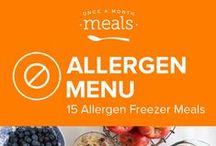 GAPS Allergen Freezer Meals Menu May 2016 / Eat your way to better health with this menu of appetizing GAPS friendly freezer meals. Fragrant and exotic Pomegranate Curry Cod, raisin dotted Hot Cross Buns, and slow cooked chicken covered in onion gravy are a sampling of these tasty dishes you've got to try. / by Once A Month Meals