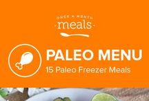 Paleo Freezer Meals Menu July 2016 / Create time to enjoy the sunshine this summer with our Traditional July 2016 menu! Chicken Cilantro Soup, Tomatoes with Bacon, and Baked Spaghetti Squash Kale Cakes are a sampling of the recipes you can cook now, kick up your feet, and enjoy later! / by Once A Month Meals