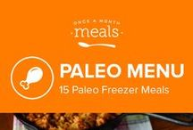 Paleo Freezer Meals Menu June 2016 / Paleo has never been more delicious! We're kicking off summer with a ton of flavor! From the slow cooker Mediterranean Eggplant Salad, Key Lime Coconut Energy Bites, Chorizo Stuffed Peppers, and Grilled Chicken and Fresh Cherry Salsa, it will leave you wanting more! / by Once A Month Meals