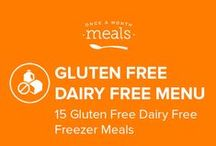 Gluten Free Dairy Free Freezer Meals Menu June 2016 / Satisfy your summer food craving with Gluten Free Dairy Free Buffalo Chicken Burgers, Top Sirloin Kebabs, and Baked Eggplant Zucchini Spaghetti. Gluten Free Dairy Free is all grown up and has never tasted better! / by Once A Month Meals