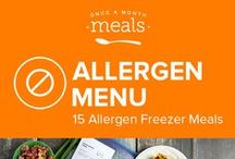 Egg Free Allergen Freezer Meals Menu June 2016 / This summer Allergen egg-free menu is like sunshine on a cloudy day! You'll find a delicious Italian chicken classic with Chicken Marsala, incredibly flavorful Stuffed Zucchini Enchilada Boats, and a-little-sweet-a-little-spicy Hawaiian Meatballs! / by Once A Month Meals
