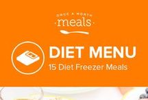 Diet Freezer Meals Menu July 2016 / Enjoy all the flavor of summer and still eat healthily with our Diet July 2016 Menu!! Full of protein, vegetables, and even delicious French Toast Sticks and Upside Down Baked Oatmeal for breakfast it's never been easier to look this good! / by Once A Month Meals