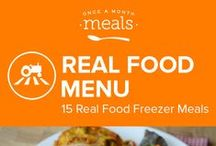 Real Food Freezer Meals Menu July 2016 / by Once A Month Meals