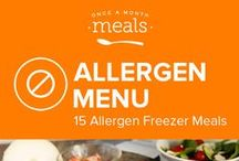 AIP Allergen Freezer Meals Menu July 2016 / by Once A Month Meals