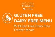 Gluten Free Dairy Free Freezer Meals Menu July 2016 / Black Bean and Sweet Potato Casserole and Fig Balsamic Roasted Pork Tenderloin are only two of the recipes featured on our Gluten Free Dairy Free July 2016 menu! With meals this gratifying, your friends will want to convert to Gluten Free Dairy Free! / by Once A Month Meals