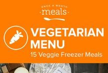 Vegetarian Freezer Meals Menu July 2016 / Fill your freezer with the tasty, meat-free recipes in our July Vegetarian Menu, so you can enjoy summer without the hassle of cooking every day! From Tempeh Enchiladas to Sweet and Sour Lentils, and Zucchini Crescent Pie you'll be glad you planned when mealtime rolls around! / by Once A Month Meals