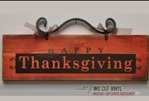 Favorite Thanksgiving Projects / Inspiring Vinyl Projects for Thanksgiving