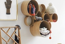 Storage+space savers / I love clever, re-used, practical things.
