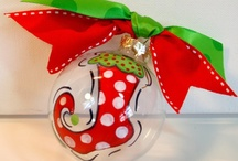 Ornaments/Christmas   / I love Christmas and have in the recent years started to not only make a lot of my own ornaments but hand paint some as well.  / by Deborah Ballard