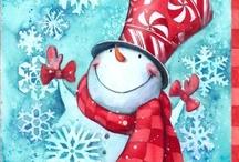 Frosty & Friends  / My momma was the snowman fan...this board is in memory of her / by Deborah Ballard