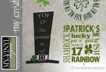 St Patricks Day Vector Art Graphics / Trendy St Patrick's Day vectors in AI, EPS, SVG, and GSD formats / by My Vinyl Designer