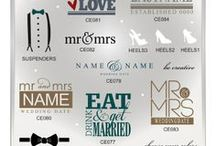 Wedding Vector Graphics / Trendy vector word art graphics for the home in AI, EPS, GSD, and SVG formats.  / by My Vinyl Designer