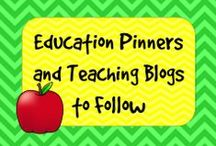 Teaching Blogs to Follow / A collection of education teaching blogs and education pinners to follow #education Pinners: Please add one pin to the Blog Button on your blog