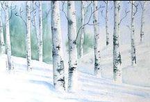 Art - Birch Trees / by Peggy Bousman