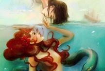 Mermaids and the sea / Mermaid or marine life...