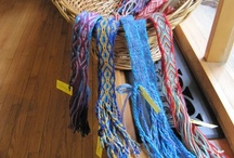 Fiber & colors / Mix of fiber stuff, when it talks to me in color or awe or sparkling image. Also Quilts. weaving, card weaving. So wonderful to do and make by your own hands.