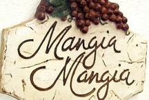 "{mangia italiano, bevi italiano} / ""mangia italiano, bevi italiano, ama l'Italiano"" or ""eat Italian, drink Italian, love Italian"" Who doesn't love Italian food!"