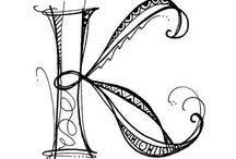Monograms and Typography / by Katrina Nockolds (Precious Gorgeous)